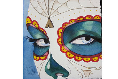The Calavera Mask Art Print