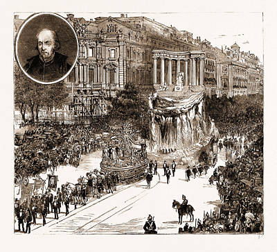 Pedro Drawing - The Calderon Bicentenary At Madrid, Spain by Litz Collection