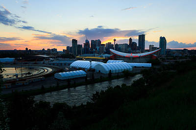 The Calgary Skyline During The Blackout Art Print by Sean Phillips