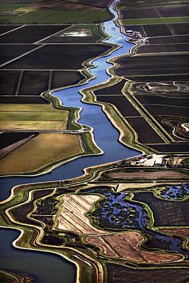 Aqueduct Digital Art - The California Delta by Adrian Mendoza