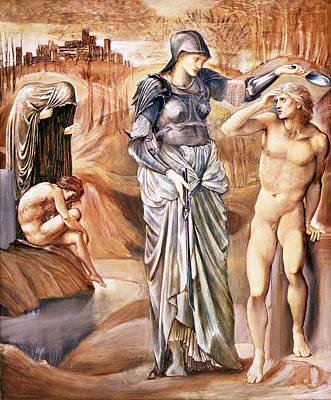 Mirror Drawing - The Call Of Perseus, C.1876 by Sir Edward Coley Burne-Jones