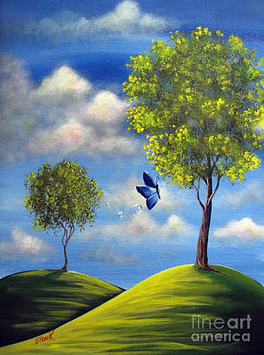 Fluttering Painting - The Call Of Spring By Shawna Erback by Shawna Erback