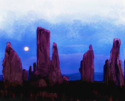 The Callanish Stones Scotland Original by Don Kuing