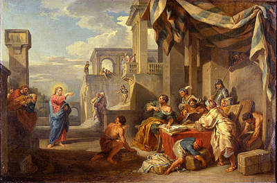 Giovanni Paolo Panini Painting - The Calling Of Saint Matthew by Giovanni Paolo Panini
