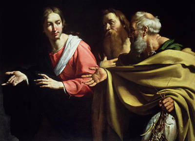 Peter Painting - The Calling Of St. Peter And St. Andrew by Bernardo Strozzi