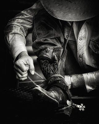 Bull Riders Photograph - The Calm Before The Storm by Ron  McGinnis