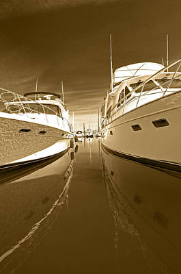Photograph - The Calm Between The Yachts by Gary Silverstein