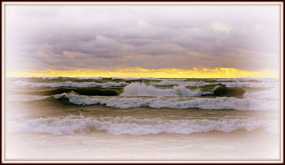 The Calm Is Comming   After The Storm On Lake Michigan Art Print