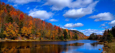 Photograph - The Calm Of Autumn At Bald Mountain Pond by David Patterson