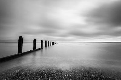 Art Print featuring the photograph The Calm Sea. by Gary Gillette