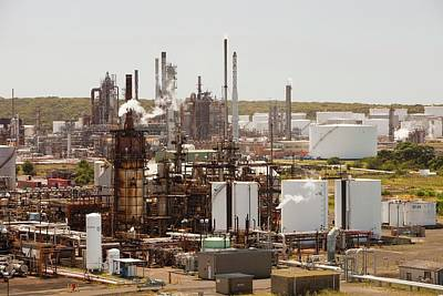 The Caltex Oil Refinery Art Print by Ashley Cooper
