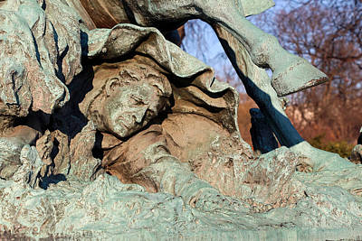 Pop Art - The Calvary Groups Fallen Soldier -- The Sculptor In His Sculpture by Cora Wandel