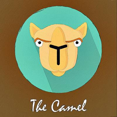 Painting - The Camel Cute Portrait by Florian Rodarte