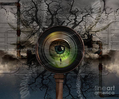 Manipulation Photograph - The Camera Eye by Keith Kapple