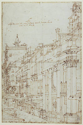 The Campo S. Basso The North Side With The Church Recto Art Print by Litz Collection