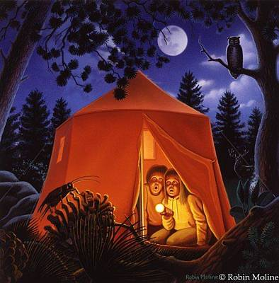Painting - The Campout by Robin Moline