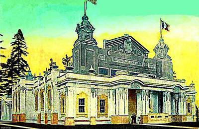 The Canada Bldg At The Alaska Yukon Pacific Expo In Seattle Wa In 1907 Art Print by Dwight Goss