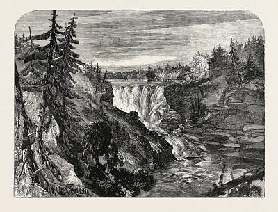 The Canadian Red River Exploring Expedition Kakabika Or Print by English School