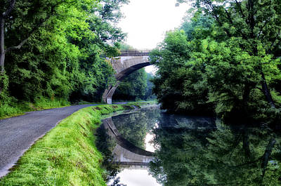 The Canal At Mont Clare Art Print