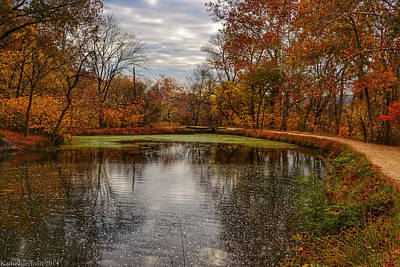 Photograph - The Canal In Autumn by Kathi Isserman