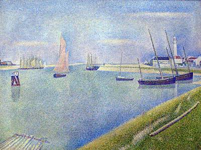Pointilist Painting - The Canal Of Gravelines by Georges Seurat