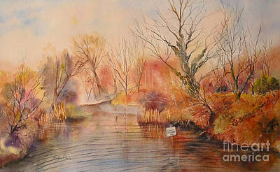Painting - The Canal West Hythe by Beatrice Cloake