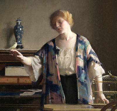 Wistful Painting - The Canary by William McGregor Paxson