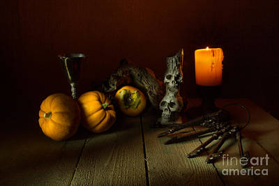 Persimon Photograph - The Candle And A Bunch Of Old Keys 2 by Ann Garrett