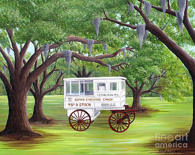 The Candy Cart Art Print by Valerie Carpenter