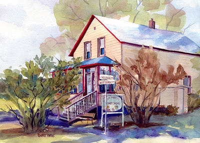Small Town Painting - The Candy Shoppe by Kris Parins