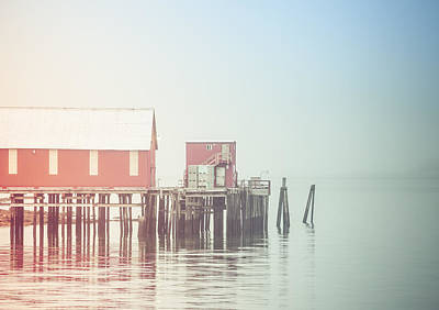 The Cannery In Fog Art Print by Michele Cornelius