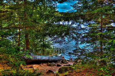 Photograph - The Canoe On Bubb Lake by David Patterson