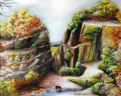 Painting - The Canyon by Michael Anthony Edwards