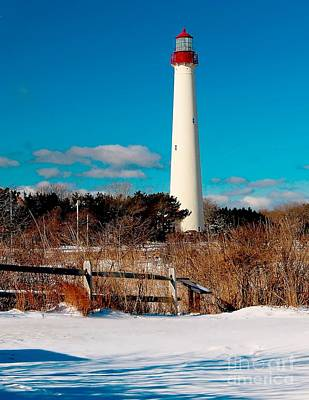 Photograph - The Cape May Lighthouse In Winter by Nick Zelinsky