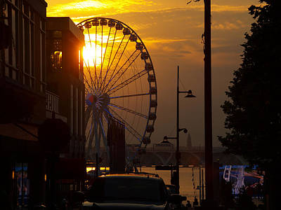 Photograph - The Capital Wheel In National Harbor by James Granberry