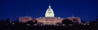 The Capitol At Nighttime Art Print by Panoramic Images