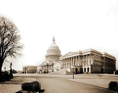 Washington D.c Drawing - The Capitol At Washington, Jackson, William Henry by Litz Collection