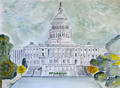 Painting - The Capitol Hill by Eva Ason