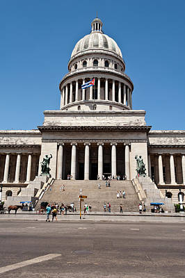 Photograph - The Capitol In Havana Cuba by Marek Poplawski