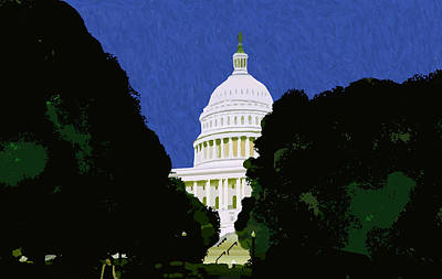 Capitol Building Painting - The Capitol  by Pharris Art