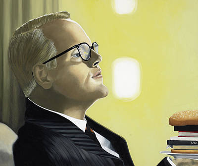 Hamburger Painting - The Capote Burger by Marcella Lassen