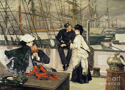 James Jacques Joseph Tissot Painting - The Captain And The Mate by Celestial Images