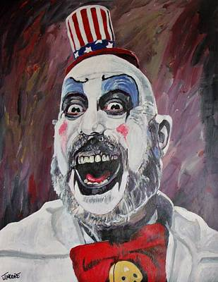 Evil Clown Painting - The Captain by Jeremy Moore