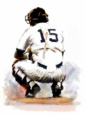 Yankee Painting - The Captain  Thurman Munson by Iconic Images Art Gallery David Pucciarelli