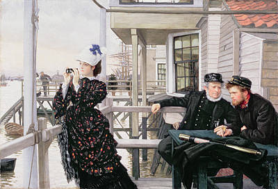Mariner Painting - The Captains Daughter by James Jacques Joseph Tissot