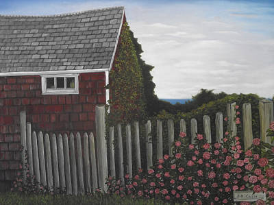 Painting - The Captain's Widow's House by Jennifer  Creech