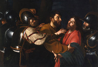 Bible Poster Painting - The Capture Of Christ by Bartolomeo Manfredi
