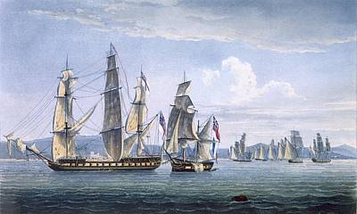 The Capture Of Le Sparviere Art Print by Thomas Whitcombe