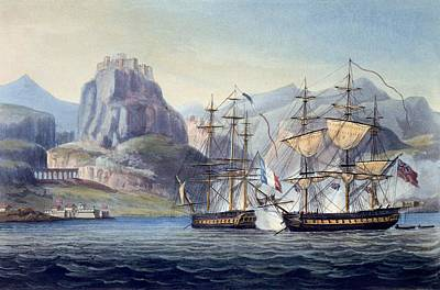 Corfu Drawing - The Capture Of The Var By Hms Belle by English School
