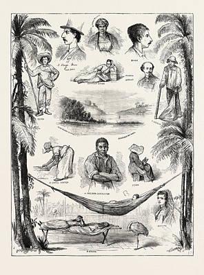 The Capture Of The Virginius, Sketches At Santiago Del Cuba Art Print by Cuban School